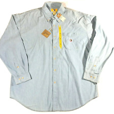 Men's Button Up Blue Duck Head Button Down XL 100% Cotton NWT