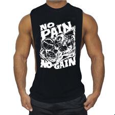 Sleeveless Gym T Shirt Men Running Shirt Summer Vest Cotton Mens Tank Top Gym