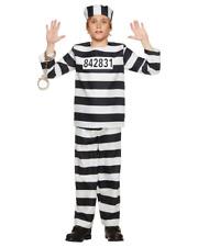 KIDS PRISON BREAK JAILBIRD HALLOWEEN COSPLAY COSTUME MED