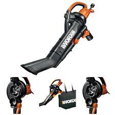 Durable Design Leaf Mulcher Vacuum Blower Angled Tube Includes 10 Gallon Bag