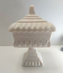 Westmoreland Pink Milk Glass Compote With Lid
