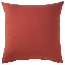Ikea VIGDIS 20x20 Cushion Cover, 100% Ramie, Orange Throw Pillow Case Shell