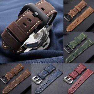 Echtes Leder Armband Uhrenzubehör Vintage Uhrenarmband Uhrenarmband 20 mm-26 mm