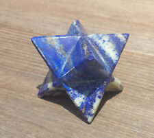 LARGE (50mm) LAPIS LAZULI GEMSTONE MERKABA STAR (ONE) - BUY IT NOW
