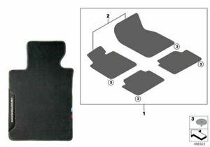 BMW Genuine M Performance Front Rear Floor Mats Carpet X5 G05 51472457269