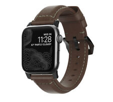 Nomad Leather Strap Traditional for Apple Watch 1,2,3,4 - 44mm-42mm -BROWN/BLACK