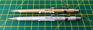 2x Pentel Sharp P205 0.5mm 50th Anniversary Mechanical Pencils Silver/Gold 2020