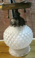 Vintage frosted glass pineapple shape ceiling fixture brass base