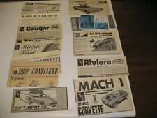 Mpc Amt Model Instructions Dragster Corvette Riviera Cougar T Bird Judge Mach 1