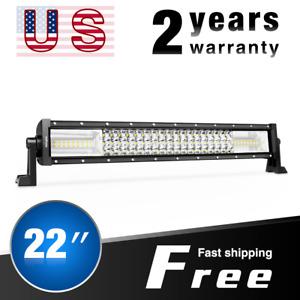Nilight LED Light Bar 22Inch Flood Spot Triple Row Lamp for Ford Trucks 4WD 270W