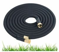 Expandable Garden Hose 50 Ft Long | Heavy Duty Water Hose | Retractable BLACK