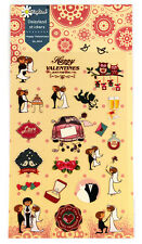 1 sheet Happy Wedding owl rose flower Craft scrapbooking filofax stickers