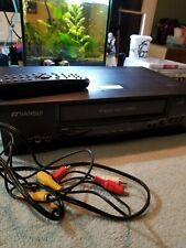 New ListingSansui Vhf6012 Vcr Hi-Fi Stereo Vhs Player Recorder with Remote wires tested