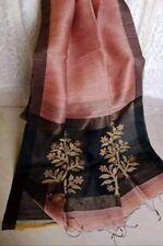 Silk Linen Jamdani Saree With running Blouse Piece (Pink Onion Color)...