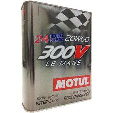 MOTUL OLIO MOTORE AUTO 300V LE MANS 20W-60 100% SINTETICO FLACONE da 2 LITRI
