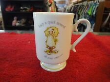 Holly Hobbie Porcelain coffee tea  mug cup Enjoy a quiet moment all your own