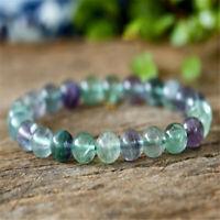 1pcs Colored fluorite Gemstone bracelet Buddhism Wrist Fancy Healing Grade Bless