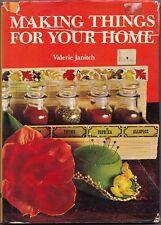 70s VINTAGE CRAFT BOOK 'MAKING THINGS FOR YOUR HOME' by Valerie Janitch HB DJ