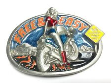 1992 Free and Easy Biker Belt Buckle The Dragon Collection Tanside England A3-Q