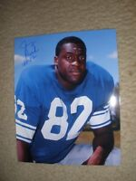 Autographed 8 x 10 Detroit Lions Jerry Rush- from Topps Negative