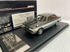 1/43 HI STORY HS119SL TOYOTA CRESTA SUPER LUCENT 1981 GREY SILVER model car
