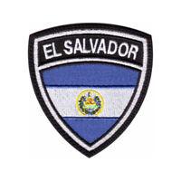 El Salvador  Flag Crest Embroidered Patch