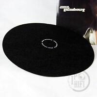 "12"" Anti Static Felt Mat for Phonograph Turntable LP Vinyl Records Black 2mm"