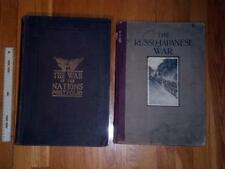 Two Large War Books- Russo-Japanese War and Pictorial WW1 FIRST EDITIONS