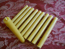 """16 Organic beeswax candles 3/4"""" in diameter x 7"""" Long"""