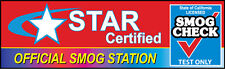SMOG CHECK - Star Certified 3'x10'  Vinyl Banner Sign