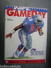 Nov. 7, 1993 New England Patriots vs. Buffalo Bills Game Day Program with ticket