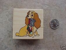 Lady & Tramp Little Stocking Stuffer Wood Backed Stamp