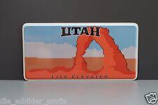 US AUTO USA CAR UTAH State Kennzeichen Schild, Nummernschild DEIN WUNSCH TEXT