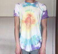 TIE DYE T SHIRT Tee Hipster Fashion Tye Die Festival Grunge Rainbow Sunburst L