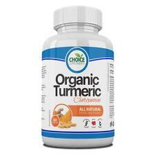 Organic Turmeric 60 Capsules 500mg Curcumin Anti inflammatory Antioxidant
