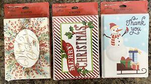 22 Hallmark Expressions Christmas Cards & Envelops - 3 Packs - Brand New