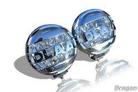 12v 6.5 Inch Spot Chrome Fog Lights Lamp 4x4 Van Car Pickup Caravan Bus Boat x2