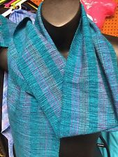 Hand Woven Scarf Fringe Blues  79 X 9 Inches Honduras Scarfs Wrap