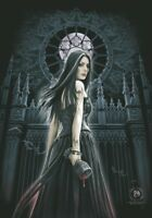 ANNE STOKES FLAGGE FAHNE GOTHIC SIREN POSTERFLAGGE STOFF POSTER FLAG