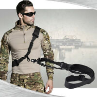 Single One 1 Point Tactical Sling For Rifle Gun Strap Belt Quick Release Buckle