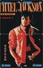 Michael Jackson 4 telefoonkaarten/télécartes  (MJ34-77 4p)