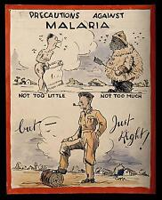 British Army Malaria World War 2 Poster 10x8 Inch Reprint