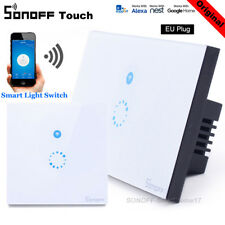 Original Sonoff Touch EU Smart WIFI APP Wall Light Touch Glass Panel LED Switch