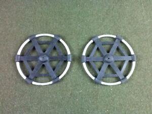 "Military Ski Pole Baskets 6"" Aluminum & Rubber 1 Pair"