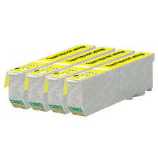4 Yellow Cartuchos De Tinta Para Epson Expression XP-520 XP-610 XP-625 XP-720