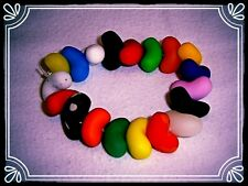 ** ~ ~ jelly bean bracelet fait main RETRO fimo perles mignon ~ **