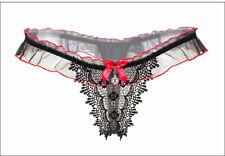 LE Sexy temptation low waist lace transparent underwear ladies peach hip t thong
