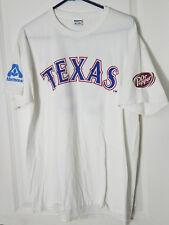 Texas Rangers #35 Cole Hamels MLB Size Medium Albertson's Dr Pepper SGA T-shirt