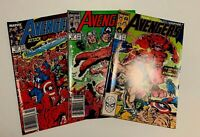 AVENGERS Marvel COMICS - ISSUES #305, 306, 307 Lot. Nice Run! 1989 Vintage.