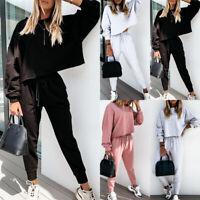 ❤️ Women Long Sleeve Tracksuit Tops+Pants 2PCS Set Casual Sport Gym Jogging Suit